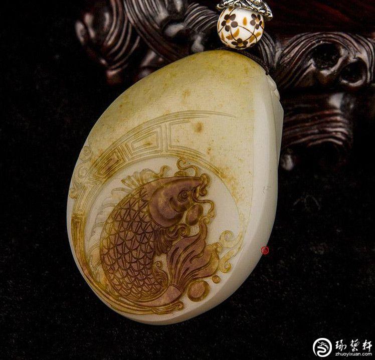 新疆玉籽料内部结构图片