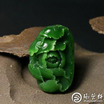 真正收藏级的菠菜绿碧玉