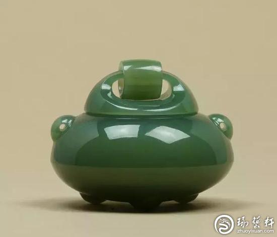 扬州玉雕玉香炉浓缩传统文化+工业设计