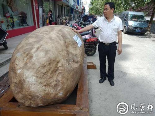 郑州现8吨重的玉石 从新疆运回花费3万